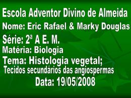 Histologia vegetal- tecidos secundários das angiospermas