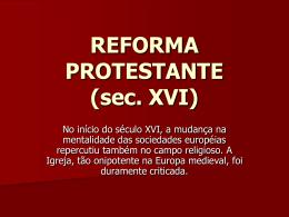 Reforma Protestante - Colégio O Bom Pastor