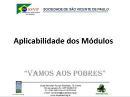 Aplicabilidade dos Módulos - Conselho Metropolitano de Goiânia