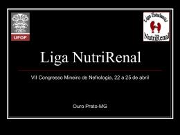 Slide 1 - Sociedade Brasileira de Nefrologia