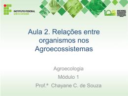 Aula 2. Relação entre organismos nos agroecossistemas