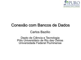 Conexão com Bancos de Dados