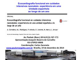 Ecocardiografia funcional em cuidados