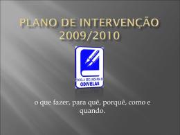 Plano de Intervenção 2009/2010 - Escola Secundária de Odivelas