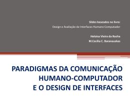 Design e Avaliação de Interfaces Humano