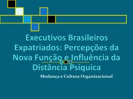 EXECUTIVOS BRASILEIROS EXPATRIADOS