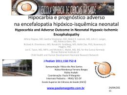 Hipocarbia e prognóstico adverso na