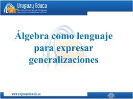 2. Tratamiento tradicional del álgebra