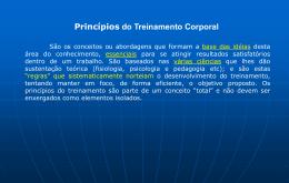 Princípios do Treinamento Corporal I