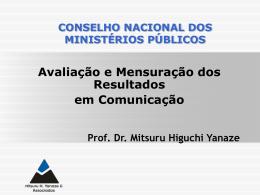 Slide 1 - Conselho Nacional do Ministério Público
