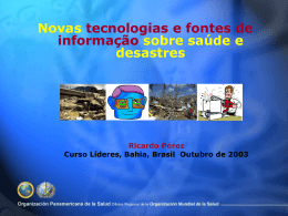 No Slide Title - DISASTER info DESASTRES