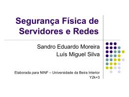 Seminário na UBI sobre segurança física de servidores e redes
