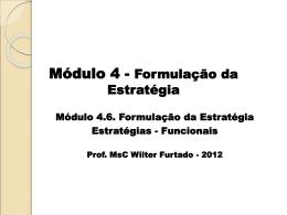 Formulação de Estratégias Funcionais