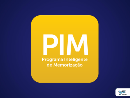 PIM - Jovens e Adultos - 2º Trimestre de 2014