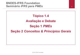 Tópico 1.4 Avaliação e Debate Seção 1 PMEs