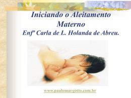 Iniciando o Aleitamento Materno