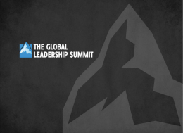 O que é The Global Leadership Summit?