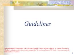 Guidelines e Padrões de Design