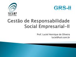 Do assistencialismo à sustentabilidade