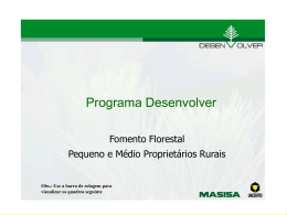 Apresentação do PowerPoint - Sociedade Brasileira de Silvicultura