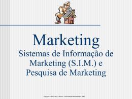 SISTEMAS DE INFORMAÇÃO DE MARKETING E