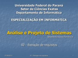 Extração de requisitos - UFPR