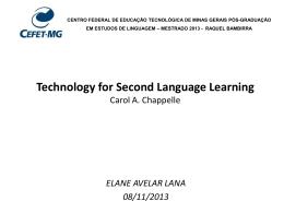 apresentação CEFET I Carol A. Chapelle