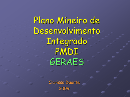 Plano Mineiro de Desenvolvimento Integrado PMDI (2003
