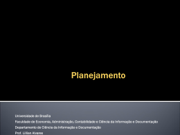 Planejamento - Universidade de Brasília