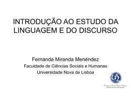 introdução ao estudo da linguagem