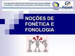 10|11 - Prof. Ana Cristina - Fonética e Fonologia