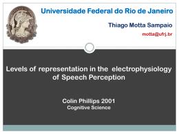 SAMPAIO, T.O.M. Níveis de representação na eletrofisiologia da