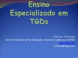 Ensino Especializado em TGDs