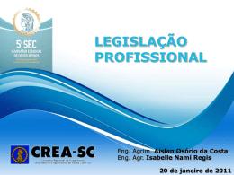 Minicurso I - Legislação do Sistema Confea/Creas - CREA-SC