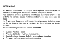 descriçâo do fenômeno el niño