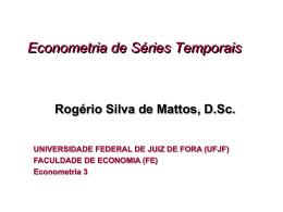 Notas de Econometria de Séries Temporais