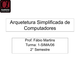Arquetetura Simplificada de Computadores