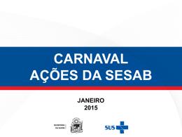 Ações Carnaval 2015