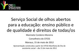 Apresentação Manaus 15/maio/2012 - CRESS-AM