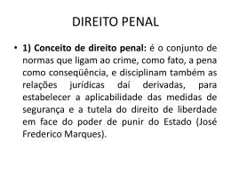 1) Conceito de direito penal