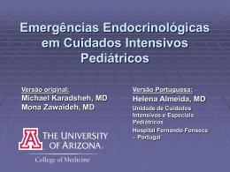 Emergências Endócrinas em Cuidados Intensivos Pediátricos