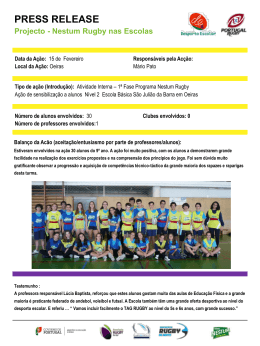 Diapositivo 1 - Associação de Rugby do Sul