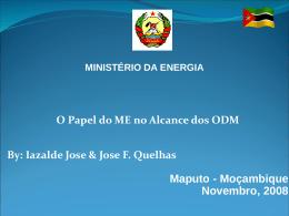 Cumprimento das Metas dos ODM com Relação ao Sector da Energia
