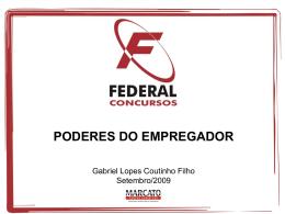 poderes do empregador - Gabriel Lopes Coutinho Filho