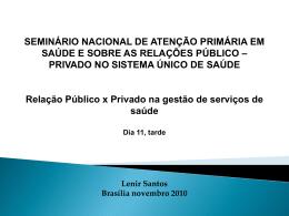relação público-privado nos serviços de saúde