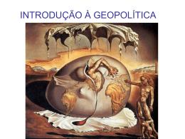INTRODUÇÃO À GEOPOLÍTICA