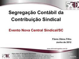 Palestra sobre Contabilidade da Contribuição Sindical