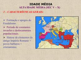 Alta Idade Média (Séc. V - X)