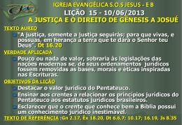 A justiça e o direito de Gênesis as Josué