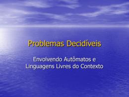 Problemas Decidíveis